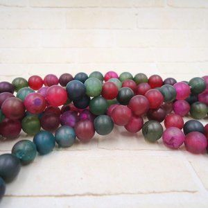 Rainbow Agate Beads Jewelry Making Supplies Gem